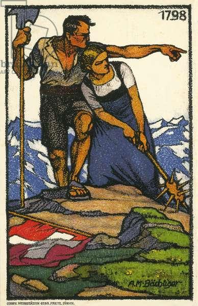 Swiss giants (colour litho)
