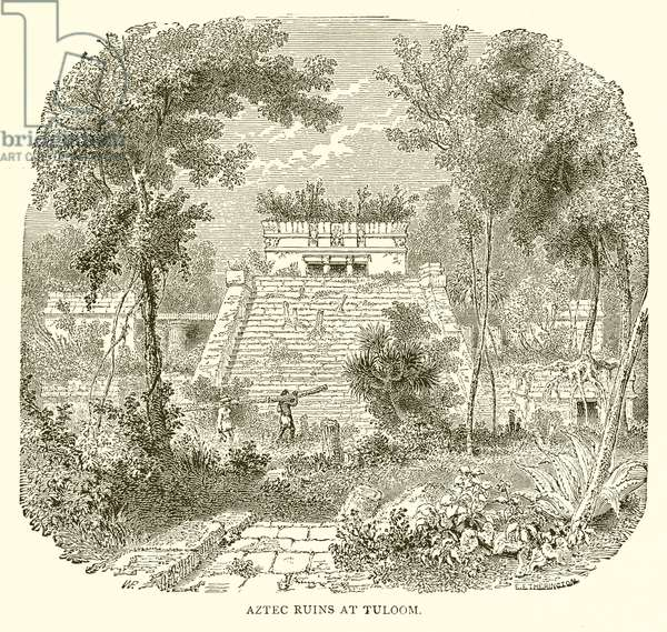 Aztec Ruins at Tuloom (engraving)