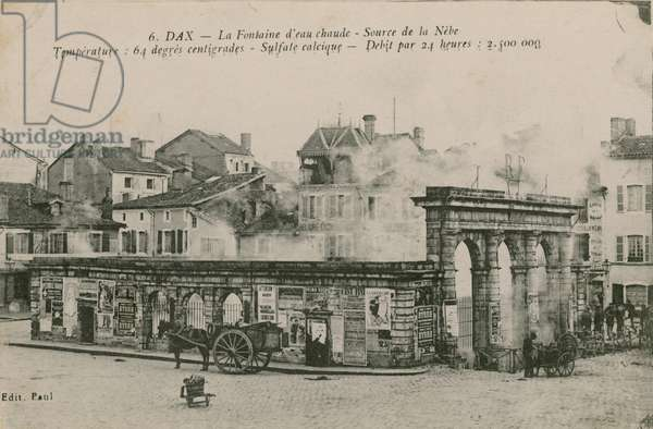 Dax - the warm water spring - source from Nebe. Postcard sent in 1913.