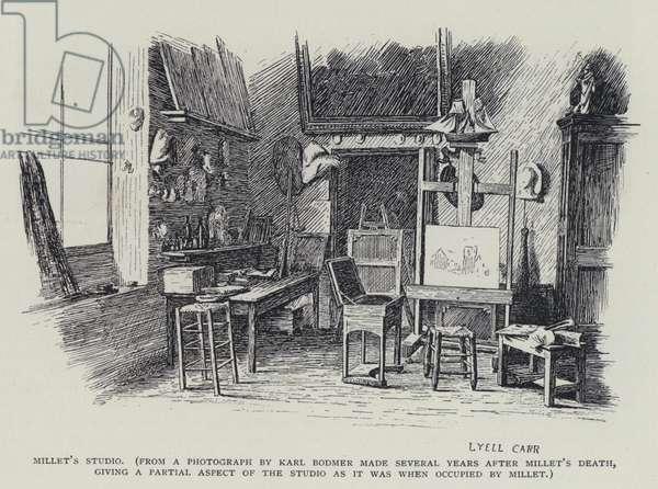 Jean Francois Millet's studio (litho)