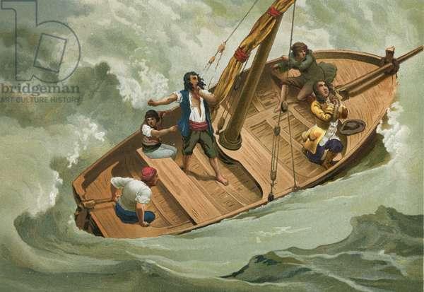 Leibniz in a boat on the Adriatic
