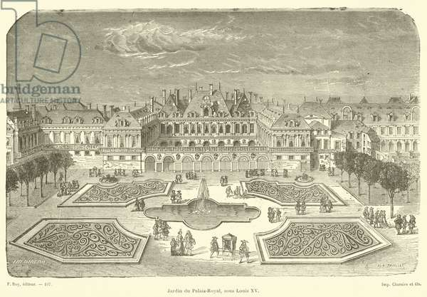 Jardin du Palais-Royal, sous Louis XV (engraving)