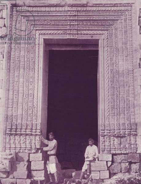 Gateway Black Pagoda, Kanarak (b/w photo)