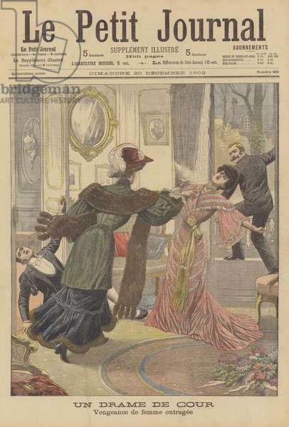 Murder committed by an Austrian princess (colour litho)