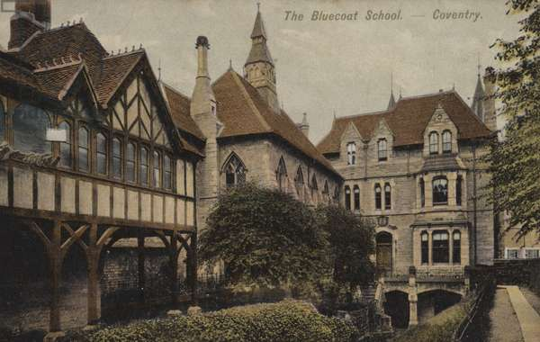 The Bluecoat School, Coventry (coloured photo)