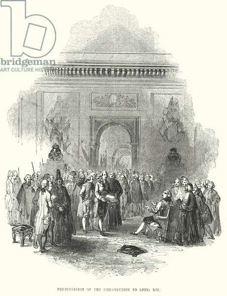 Presentation of the Constitution to Louis XVI (engraving)