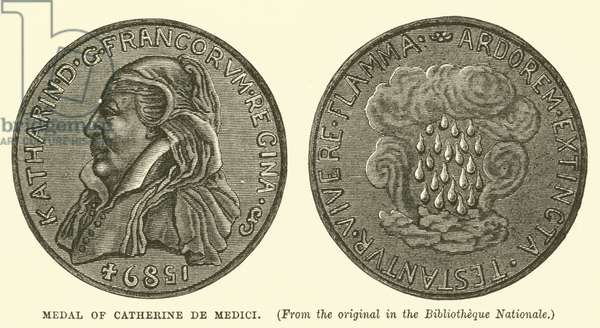 Medal of Catherine de Medici (engraving)