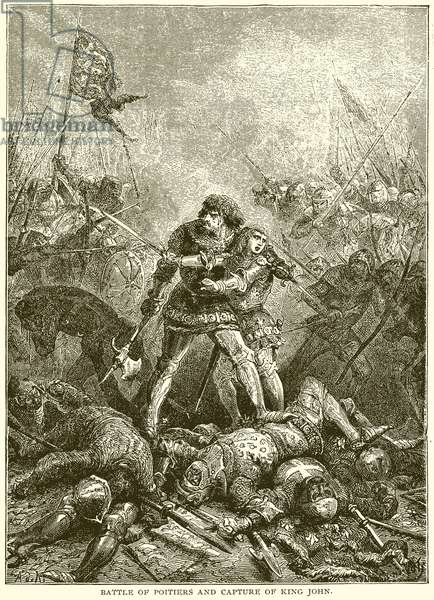 Battle of Poitiers and Capture of King John (engraving)