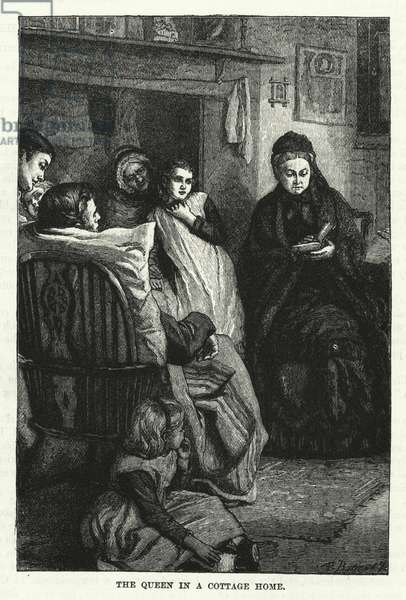The Queen in a Cottage Home (engraving)
