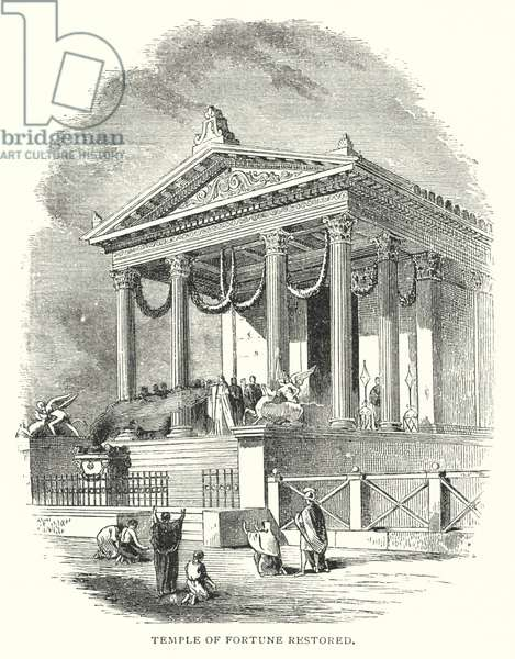 Temple of Fortune restored (engraving)