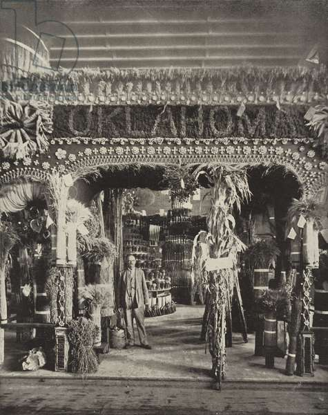 Oklahoma's Pavilion in the Agricultural Building (b/w photo)