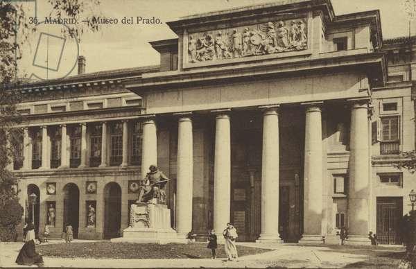 Madrid, Museo Del Prado (b/w photo)