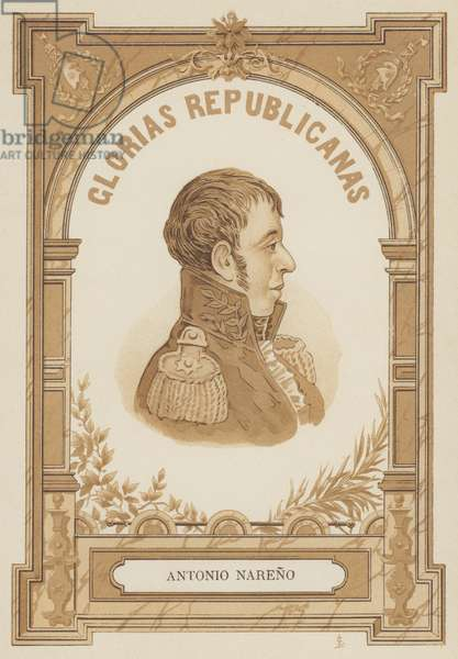 Antonio Narino, Colombian military and political leader (litho)