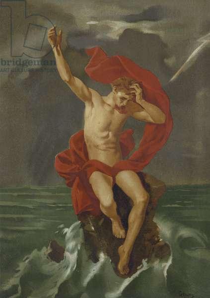 Judas in hell (chromolitho)