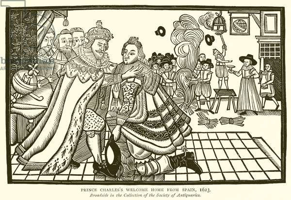 Prince Charles's Welcome Home from Spain, 1623 (engraving)
