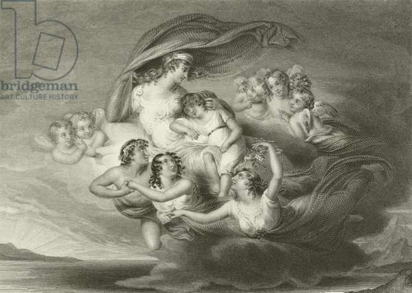 Flight of Venus with Ascanius (engraving)