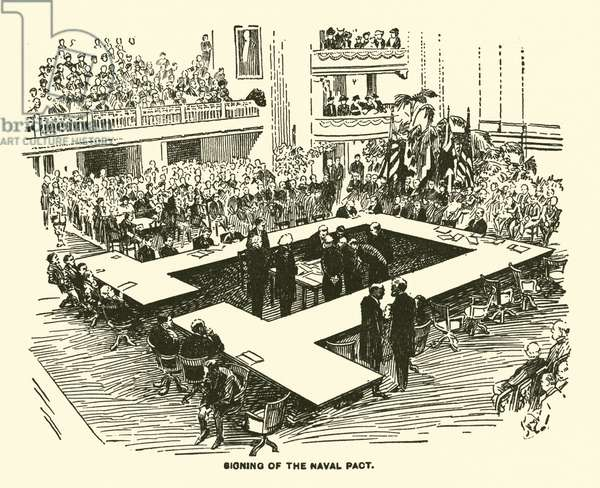 Signing of the Naval Pact (engraving)