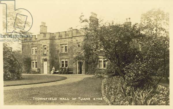 Thornfield Hall from Jane Eyre (b/w photo)