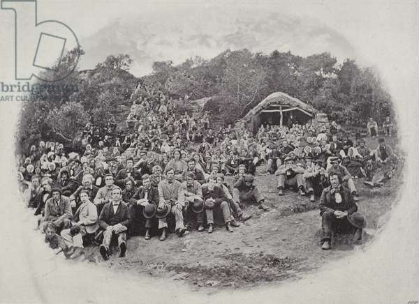 A Mass in the Mountains of Donegal (b/w photo)