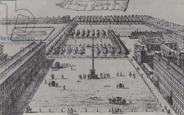 View of Lincoln's Inn, 1755 (litho)