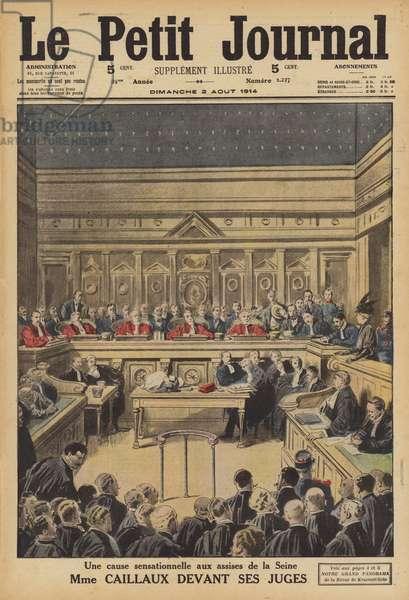 The trial of Henriette Caillaux (colour litho)