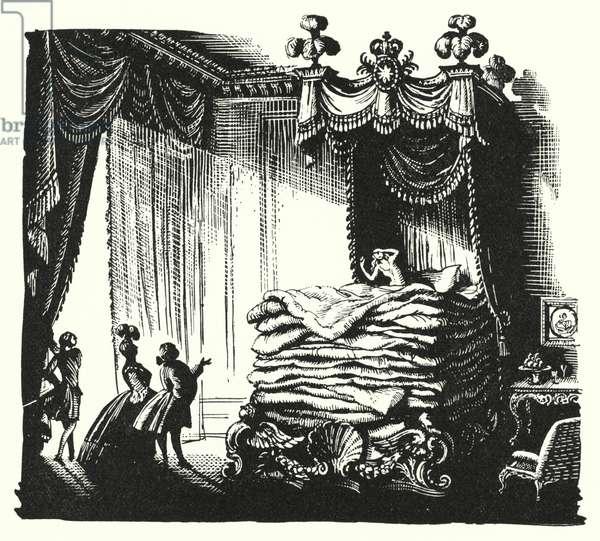 Hans Christian Andersen: The Real Princess (litho)