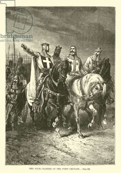 The four leaders of the First Crusade (engraving)