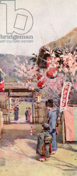 The Gate of the Plum Garden (colour litho)
