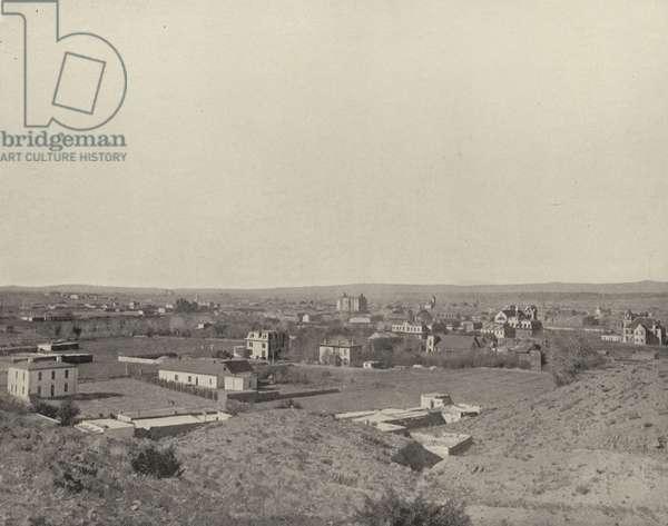 Santa Fe, New Mexico (b/w photo)