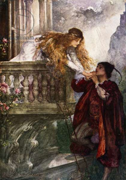 Romeo and Juliet (colour litho)