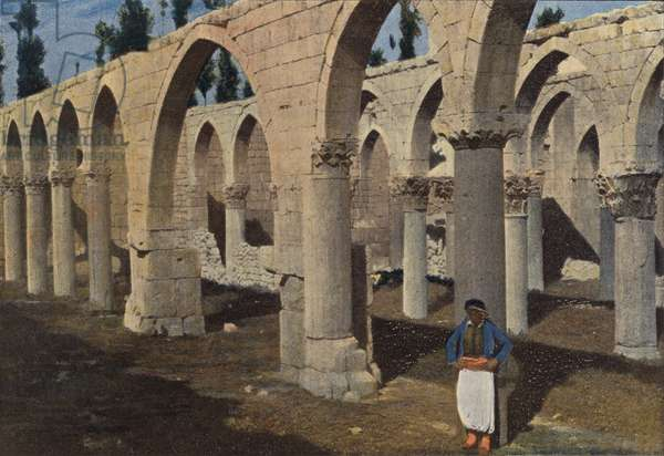 Baalbeck, Mosquee De Saladin (colour photo)