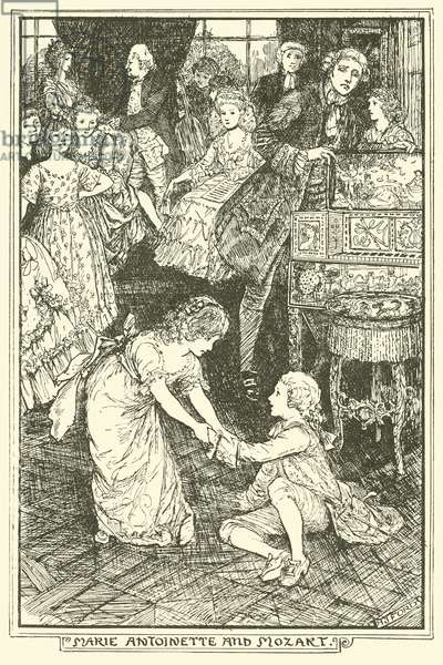 Marie Antoinette and Mozart (engraving)