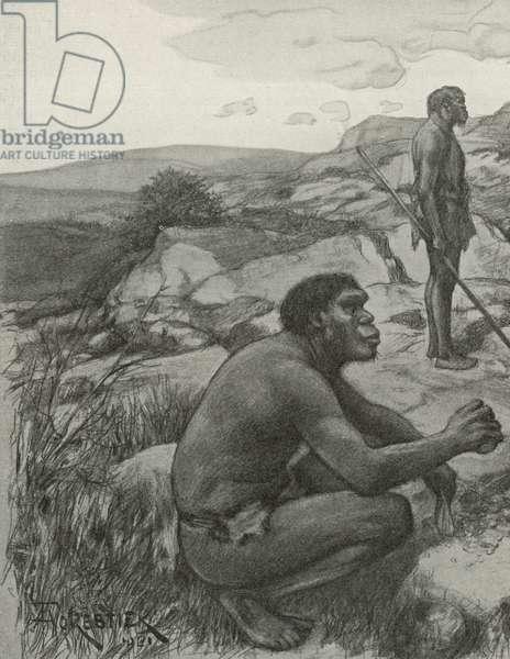 Rhodesian Man (litho)