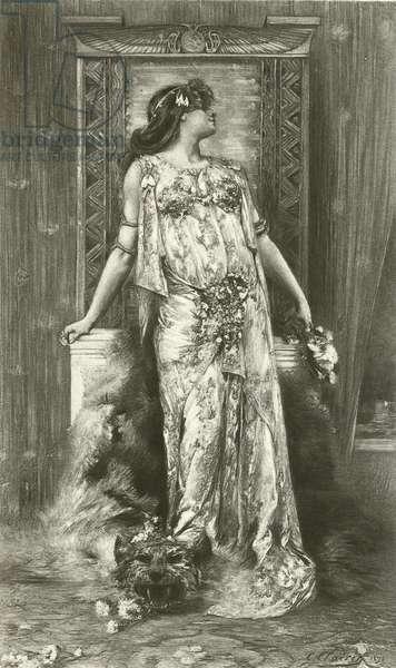 Sarah Bernhardt as Cleopatra (gravure)