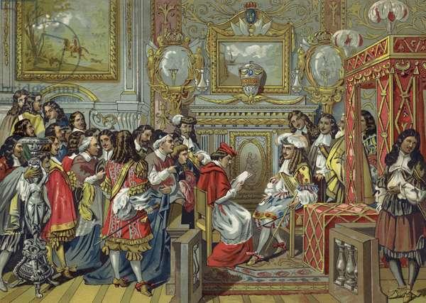 Cabinet of Louis XIV of France (chromolitho)