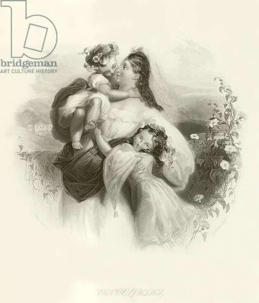 Mother and children (engraving)