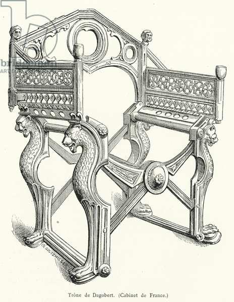 Trone de Dagobert (engraving)