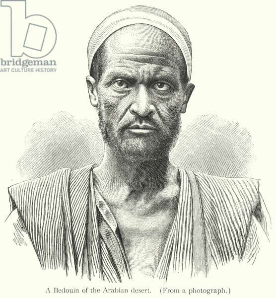 A Bedouin of the Arabian desert (engraving)