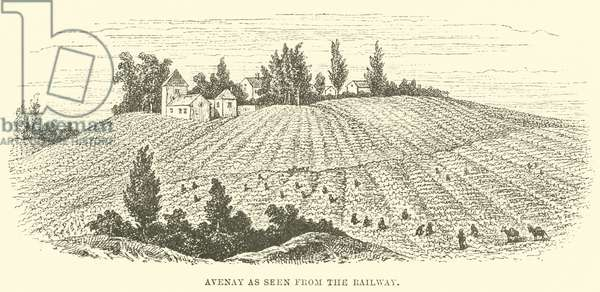 Avenay as seen from the Railway (engraving)