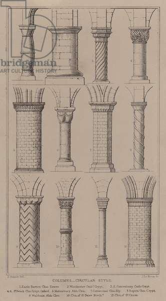 Columns, Circular Style (engraving)
