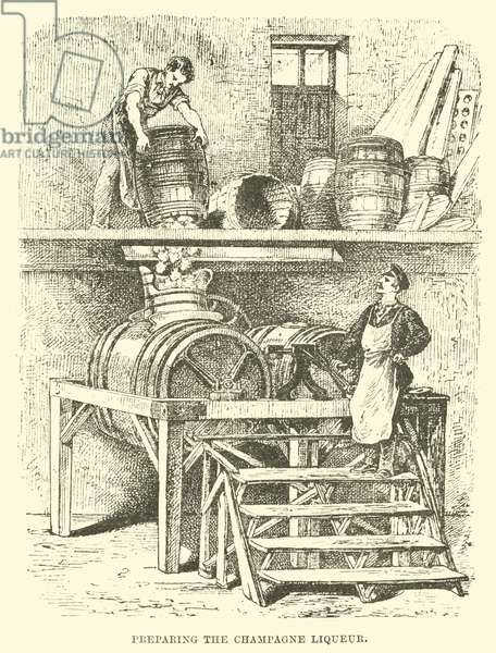 Preparing the Champagne Liqueur (engraving)