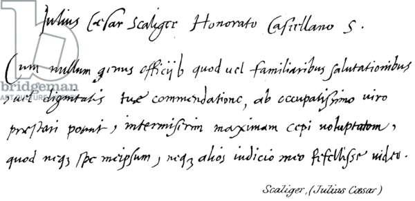 Scaliger, (Julius Caesar) (engraving)
