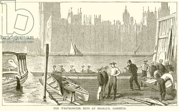 The Westminster Boys at Searle's, Lambeth (engraving)