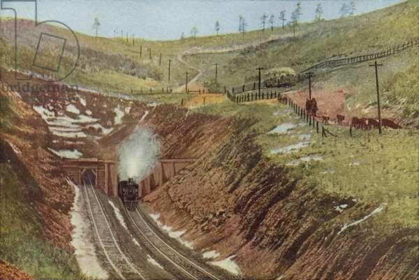 Raton Tunnel, Highest Point on the Santa Fe (coloured photo)