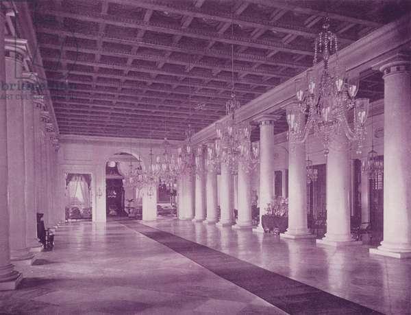 Marble Hall, Government House, Calcutta (b/w photo)