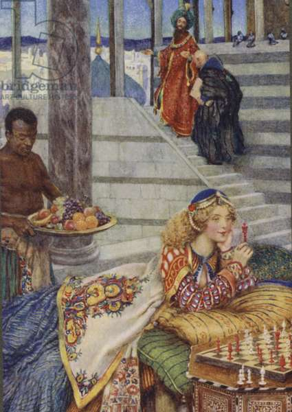 Illustration for Idylls Of The King by Alfred Lord Tennyson (colour litho)