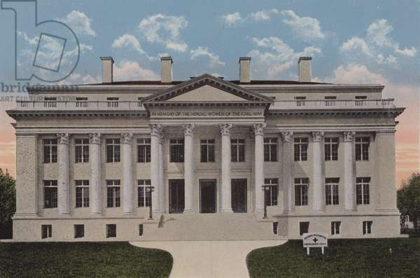 The Red Cross Memorial Building, Washington DC (colour litho)