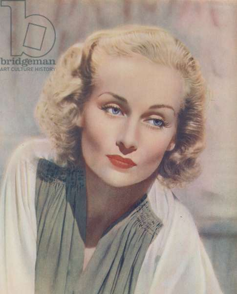 Carole Lombard (colour litho)