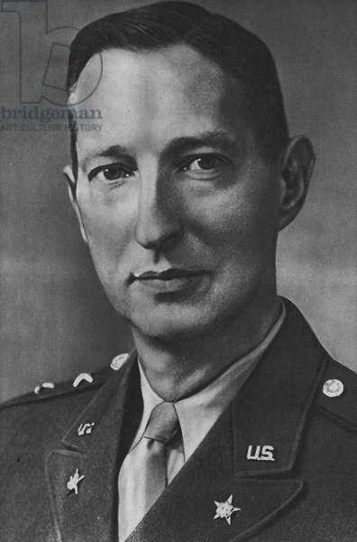 Lieutenant-General Mark W Clark, Commander of the 5th Army (b/w photo)