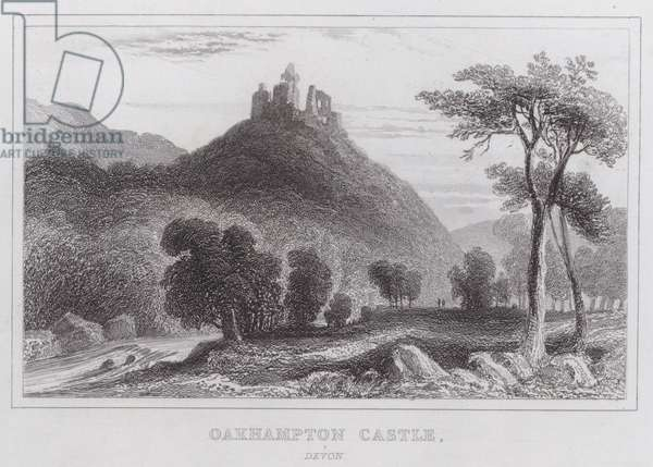 Oakhampton Castle, Devon (engraving)